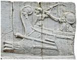 Infanterie de marine représentée sur le monument funéraire de Cartilius Poplicola, Ier siècle av. J.-C., Ostie ©DR