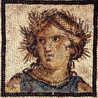 Détail de la première mosaïque : Cérès, le printemps