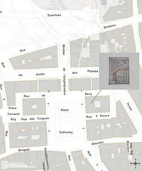 Plan de localisation des mosaïques