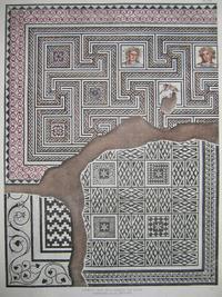 Dessin des trois mosaïques. Fr. Artaud, 1835