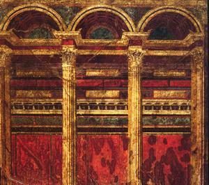 2e style pompéien, Villa des Mystères, Pompéi