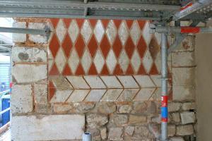 Décor polychrome restauré au XIXe siècle © SAVL