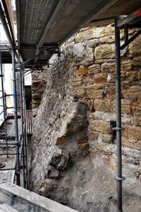 Détail du mur Cléberg pendant l'étude © SA Ville de Lyon