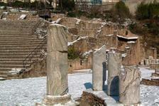 Colonnes du mur de scène © SA Ville de Lyon